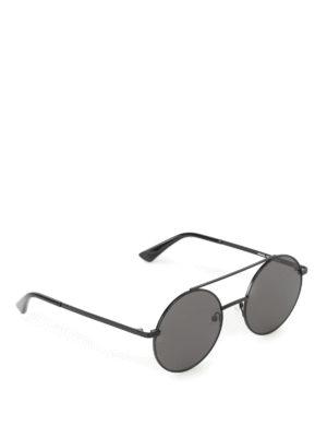 Mcq: sunglasses - Black metal round sunglasses