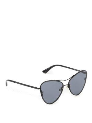 Mcq: sunglasses - Cat-eye black metal sunglasses