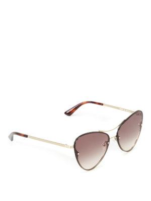 Mcq: sunglasses - Cat-eye gold metal sunglasses