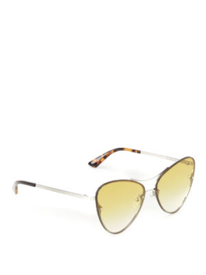 Mcq: sunglasses - Cat-eye silver metal sunglasses