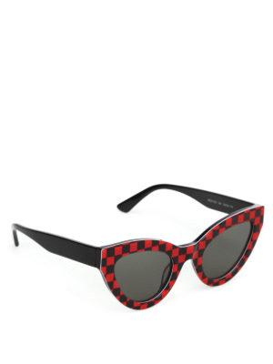 MCQ: occhiali da sole - Occhiali da sole a occhi di gatto a quadretti