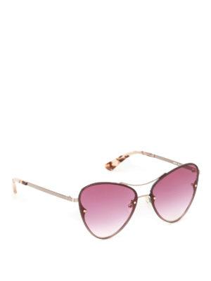 Mcq: sunglasses - Gold metal frame pink sunglasses