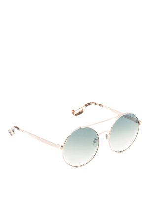 Mcq: sunglasses - Golden metal round sunglasses