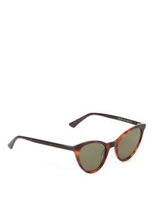 Mcq: sunglasses - Havana cat-eye sunglasses