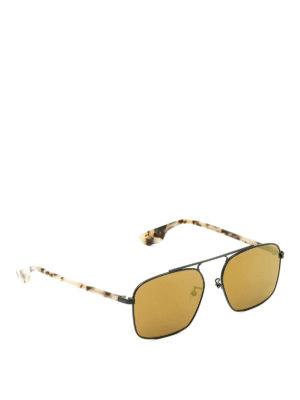 Mcq: sunglasses - Havana temples black sunglasses