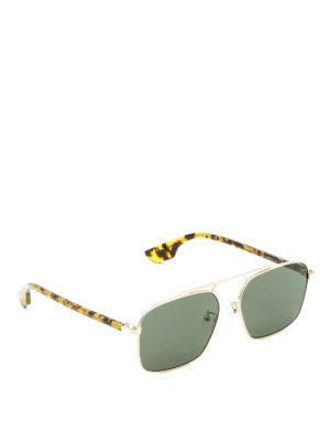Mcq: sunglasses - Havana temples sunglasses