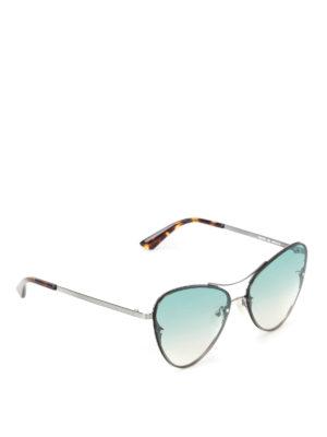 Mcq: sunglasses - Metal frame light blue sunglasses