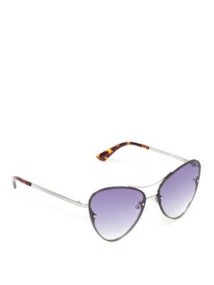 Mcq: sunglasses - Metal frame violet sunglasses