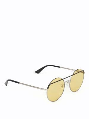 MCQ: occhiali da sole - Occhiali da sole tondi con lenti gialle