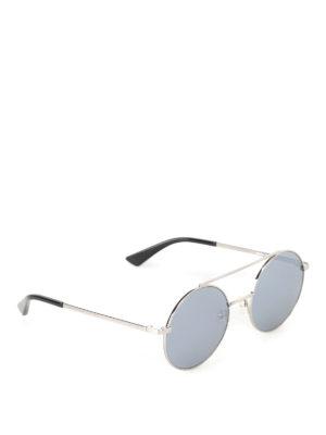 Mcq: sunglasses - Metal sunglasses with mirror lenses
