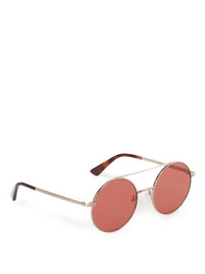Mcq: sunglasses - Metal sunglasses with orange lenses