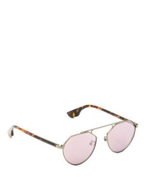Mcq: sunglasses - Metallic and havana sunglasses