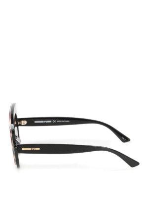 Mcq: sunglasses online - Animal print frame sunglasses