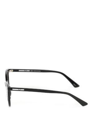 Mcq: sunglasses online - Black acetate cat-eye sunglasses