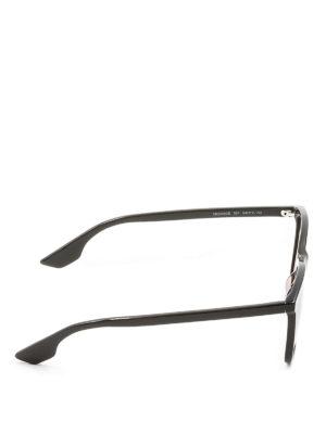Mcq: sunglasses online - Black acetate square sunglasses