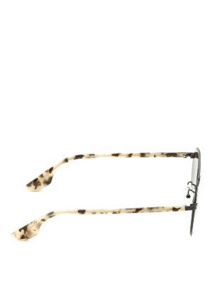 Mcq: sunglasses online - Black and havana sunglasses