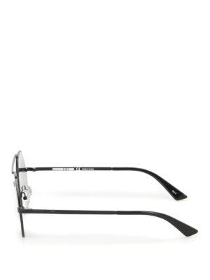 Mcq: sunglasses online - Black angular frame sunglasses