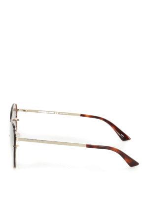 Mcq: sunglasses online - Cat-eye gold metal sunglasses