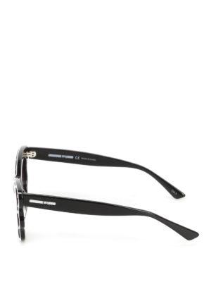 Mcq: sunglasses online - Chequered acetate sunglasses