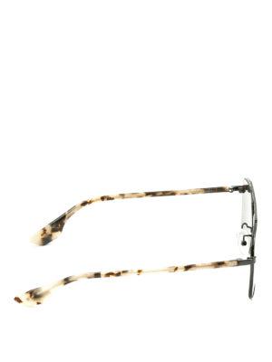 Mcq: sunglasses online - Havana temples black sunglasses