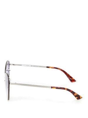 Mcq: sunglasses online - Metal frame violet sunglasses