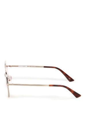 Mcq: sunglasses online - Metal sunglasses with orange lenses
