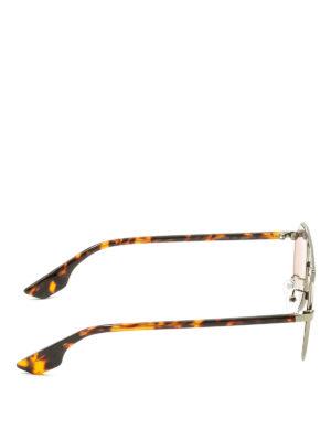 Mcq: sunglasses online - Metallic and havana sunglasses