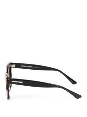Mcq: sunglasses online - Red chequered sunglasses