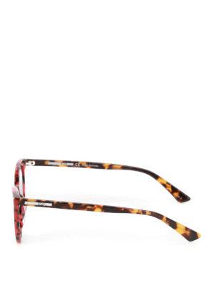 Mcq: sunglasses online - Red havana cat-eye sunglasses
