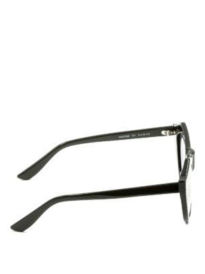 Mcq: sunglasses online - Studded black cat eye sunglasses