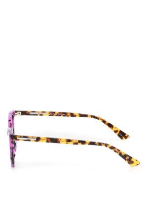 Mcq: sunglasses online - Violet havana cat-eye sunglasses