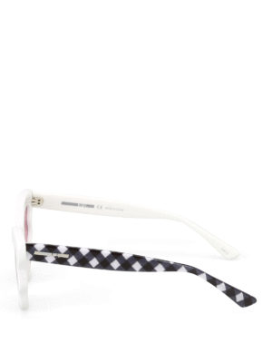 Mcq: sunglasses online - White and chequered sunglasses