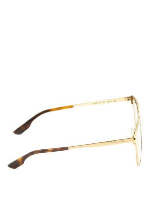 Mcq: sunglasses online - Yellow lenses gold metal sunglasses