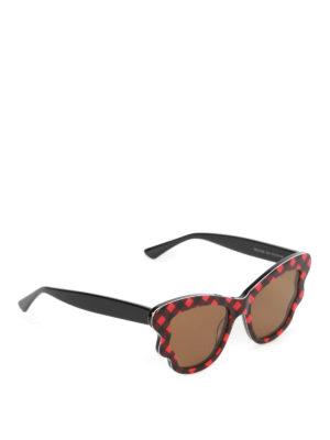 Mcq: sunglasses - Red chequered sunglasses
