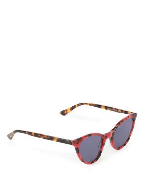 Mcq: sunglasses - Red havana cat-eye sunglasses