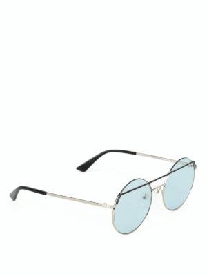 MCQ: occhiali da sole - Occhiali da sole tondi con lenti azzurre