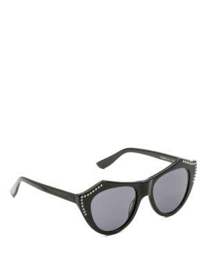 Mcq: sunglasses - Studded black cat eye sunglasses