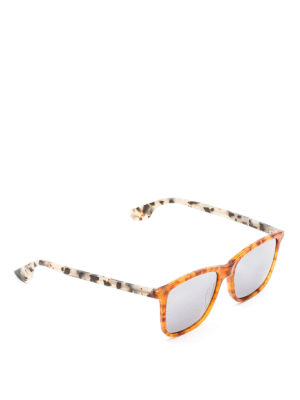 Mcq: sunglasses - Two-tone tortoiseshell sunglasses