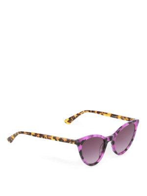 Mcq: sunglasses - Violet havana cat-eye sunglasses