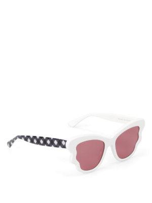 Mcq: sunglasses - White and chequered sunglasses