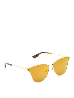Mcq: sunglasses - Yellow lenses gold metal sunglasses