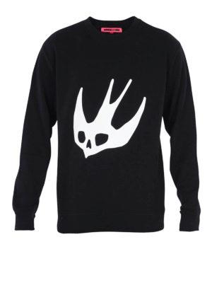 Mcq: Sweatshirts & Sweaters - Dove print sweatshirt