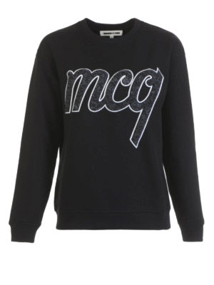 Mcq: Sweatshirts & Sweaters - Logo patch cotton sweatshirt