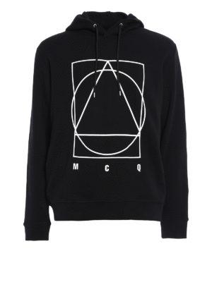 Mcq: Sweatshirts & Sweaters - Logo print cotton hoodie