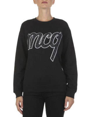 Mcq: Sweatshirts & Sweaters online - Logo patch cotton sweatshirt