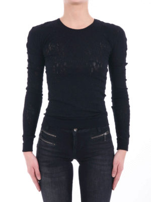 Mcq: Sweatshirts & Sweaters online - Stretch lace fitted sweater