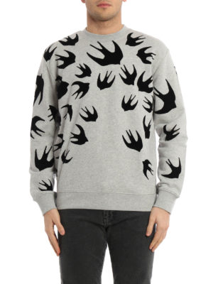 Mcq: Sweatshirts & Sweaters online - Swallow appliques sweatshirt