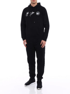 Mcq: Sweatshirts & Sweaters online - Swallow embroidered patches hoodie