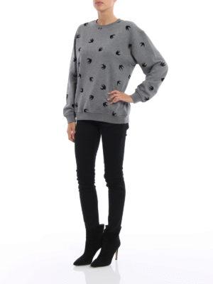 Mcq: Sweatshirts & Sweaters online - Velvet Micro Swallow sweatshirt