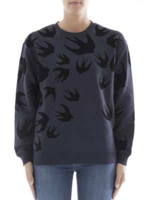 Mcq: Sweatshirts & Sweaters online - Velvet Swallow pattern sweatshirt